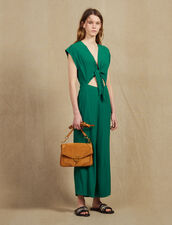 Jumpsuit With Tie Fastening On The Top : All Selection color Green