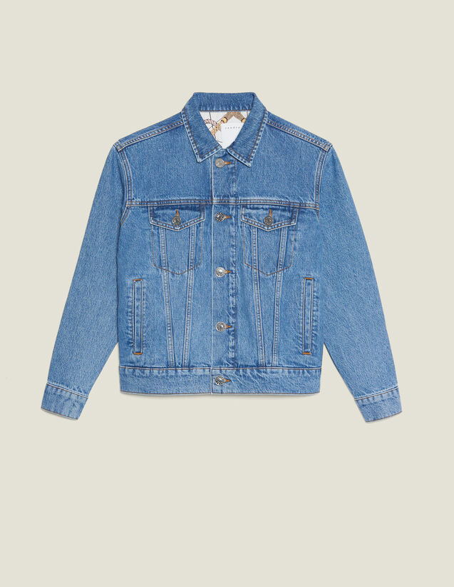 Masculine Fit Denim Jacket : Blazers & Jackets color Blue Vintage - Denim
