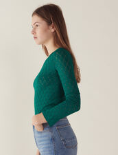 Long-Sleeved Decorative Sweater : Sweaters & Cardigans color Green