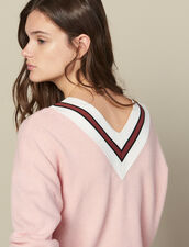 Sweater With Contrasting Stripes : Sweaters & Cardigans color Pink