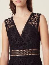 English guipure lace midi dress : Copy of VP-FR-FSelection-Robes color Black