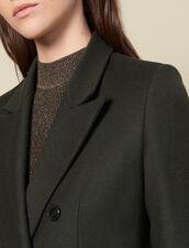Long wool coat : Coats color Olive Green