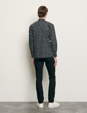 Print cotton shirt : Shirts color Black