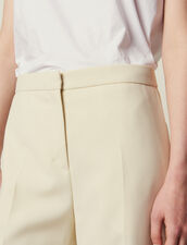 Tailored Trousers : null color Ecru