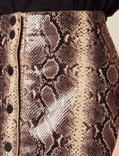 Short Python Print Leather Skirt : Skirts & Shorts color Python