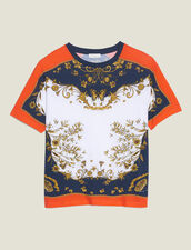 T-Shirt With A Positioned Print : null color Multi-Color