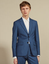 Wool Suit Jacket : Sélection Last Chance color Bluish Grey