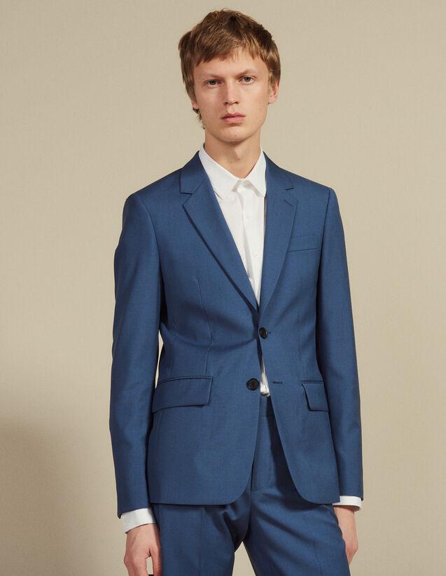 Wool Suit Jacket : Suits & Tuxedos color Bluish Grey