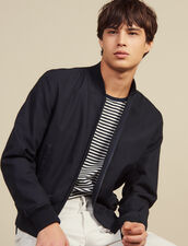 Cotton Teddy-Style Jacket : Copy of JP-CH-H20 color Navy Blue