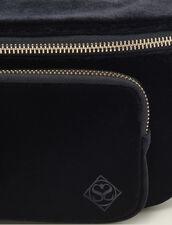 Velvet Banana Bag : All Winter collection color Black