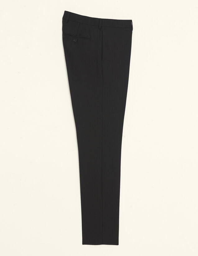 Wool Suit Trousers : All Selection color Black