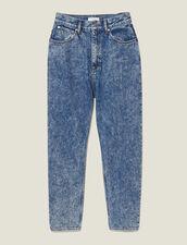 Snow Wash Jeans : Jeans color Blue Jean