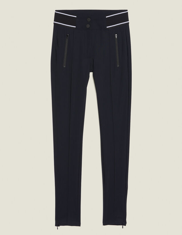Leggings-Style Trousers : Pants color Black