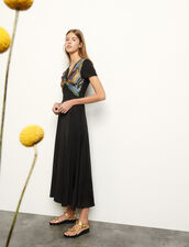 Jersey dress with insert : Dresses color Black