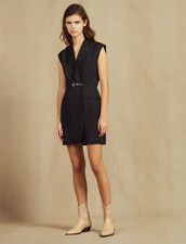 Dress With Tailor'S Collar : null color Black