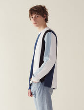 Sweatshirt With Wide Contrasting Stripes : Sélection Last Chance color Blue