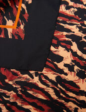 Printed silk scarf : All Winter collection color Black