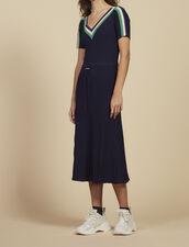 Long Sportswear Knit Dress : All Selection color Navy Blue