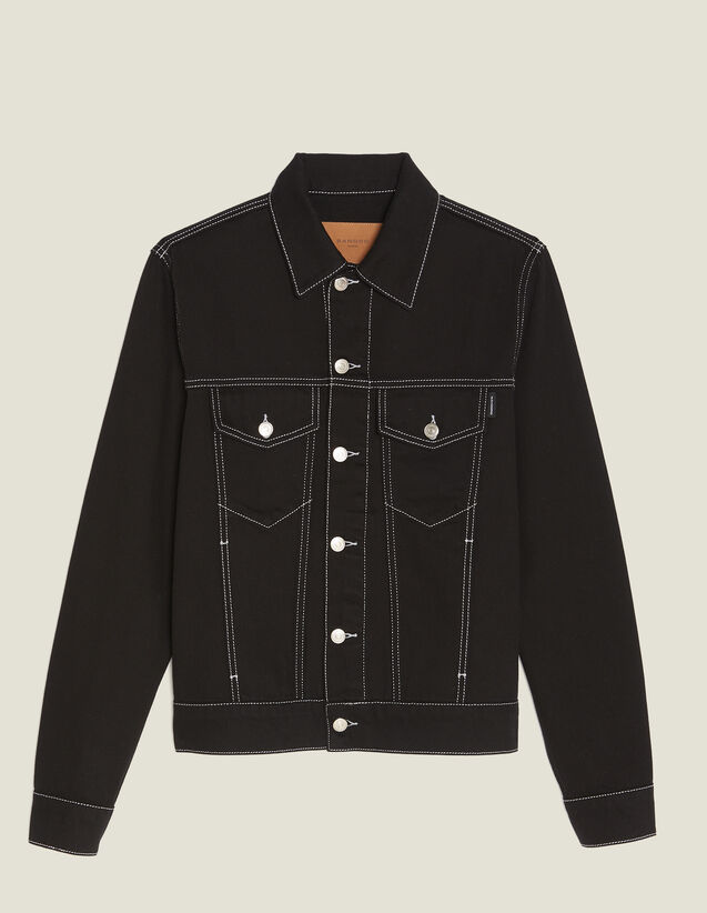 Denim Canvas Jacket : Blazers & Jackets color Black