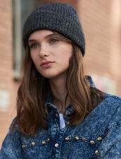 Lurex Beanie : Gloves & Hats color Dark Grey