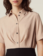 Trompe L' Œil Dress With Blouse : null color Black