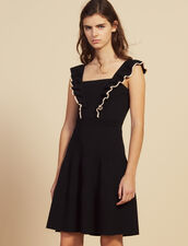 Short Dress With Frills Around The Arms : All Selection color Black