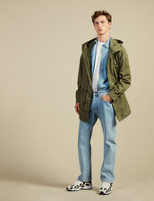 Faded Cotton Parka : Sélection Last Chance color Olive Green