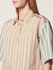 Striped Short-Sleeved Shirt : All Selection color Multi-Color