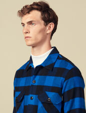 Checked cotton shirt : Winter Collection color Blue