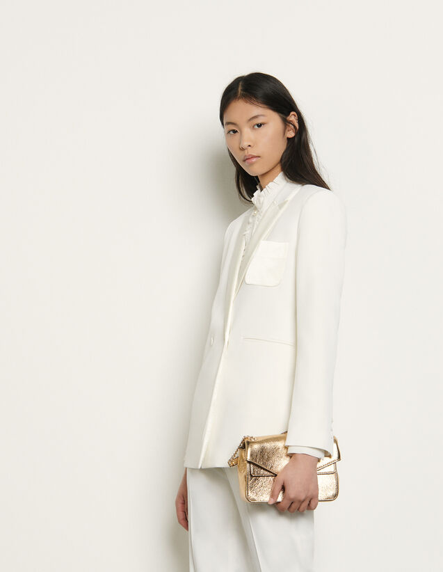 Dual-fabric tailored jacket : Blazers & Jackets color Ivory