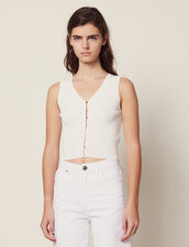 Knit Top With Jewelled Buttons : All Selection color white
