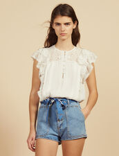Denim Shorts With Scarf Belt : Skirts & Shorts color Blue Vintage - Denim
