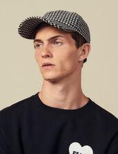 Houndstooth Cap : Caps color Black/White