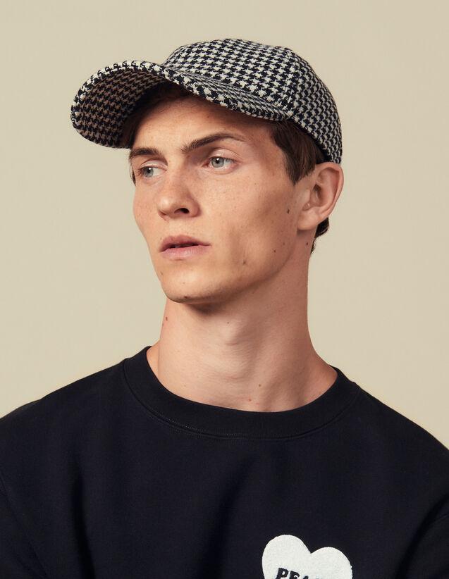 Houndstooth Cap : LastChance-IT-H40 color Black/White