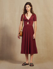 Openwork Knit Midi Dress : All Selection color Land of Fire
