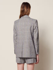 Checked Blazer : null color Grey