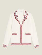 Nautical Style Cardigan : LastChance-ES-F50 color Ecru