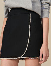 Short skirt embellished with beads : FBlackFriday-FR-FSelection-30 color Black
