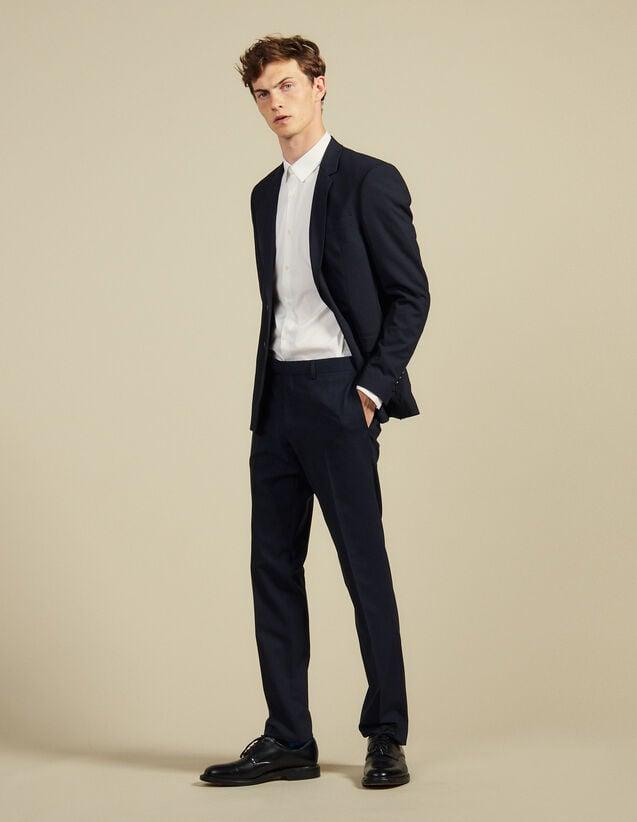 Slim Fit Wool Suit Trousers : Suits & Tuxedos color Navy Blue