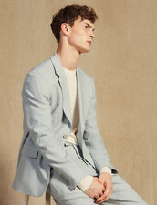 Wool Suit Jacket : All Selection color Putty