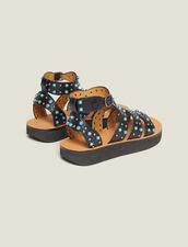 Wedge Sandals With Beading : LastChance-FR-FSelection color Black
