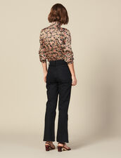 Flared jeans with slits : Copy of Pants and Jeans color Black