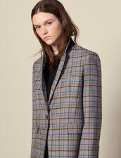 Checked wool blazer : LastChance-ES-F50 color Grey