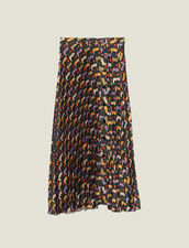 Printed pleated wraparound skirt : FBlackFriday-FR-FSelection-30 color Black