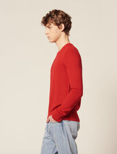 Fine Fancy Stitch Sweater : Pullovers & Cardigans color Red