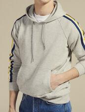 Fleece Hoodie Sweatshirt : Sweatshirts color Mocked Grey
