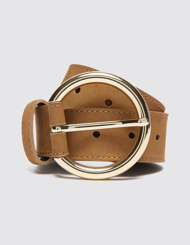 Leather Belt : New In color Dark Navy