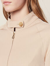 Cropped Plain Flowing Jacket : null color Sand