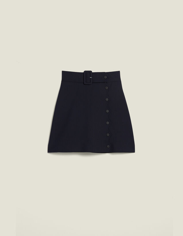 Short A-Line Skirt : All Selection color Navy Blue