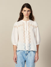 Lace-Blend Blouse : All Selection color Ecru